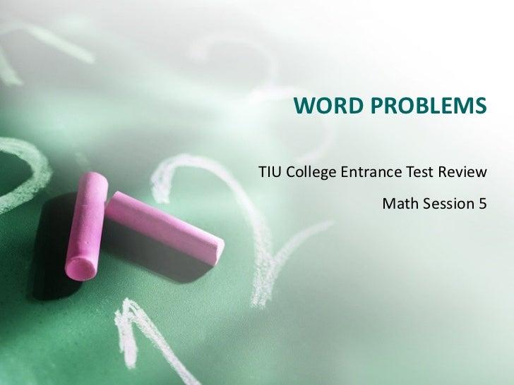 TIU CET Review Math Session 5