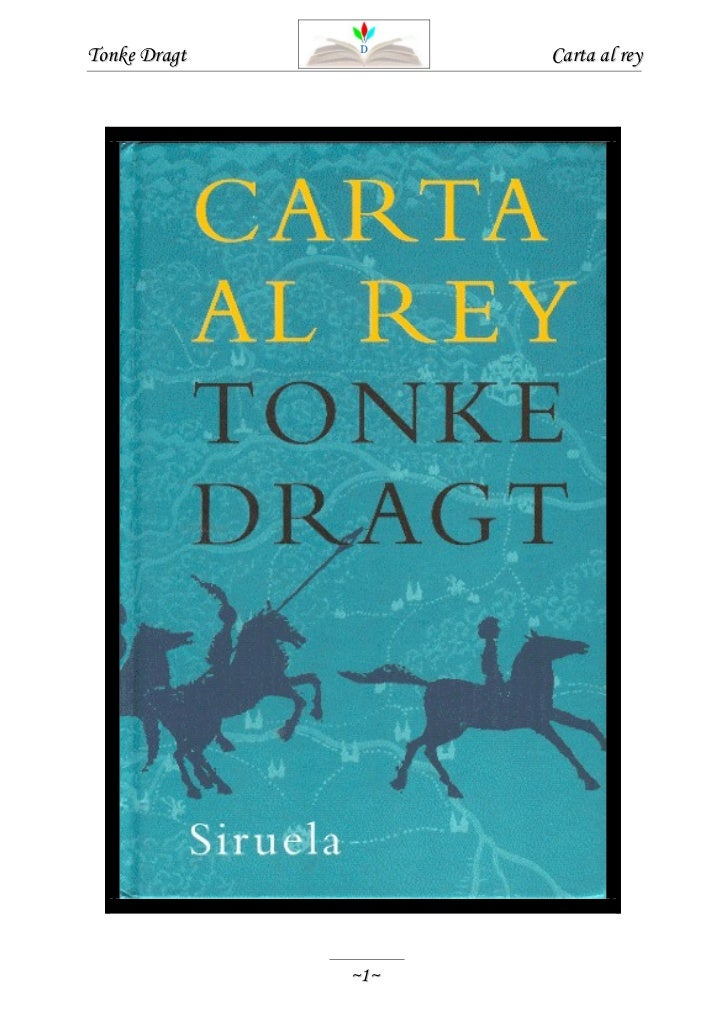 Carta al rey - Tonke Dragt