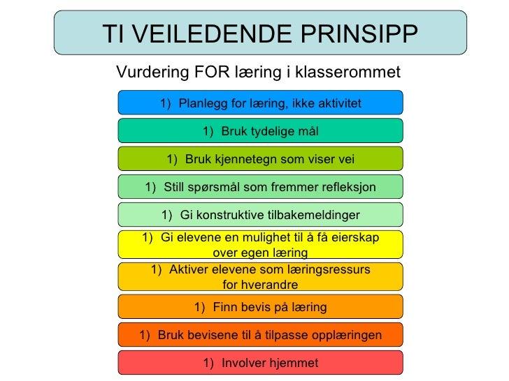 Ti Veiledende Prinsipp Om Vurdering(T Slemmen 2009)
