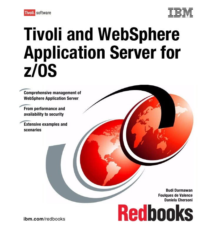 Front coverTivoli and WebSphere              SphereApplication Server for         onz/OSComprehensive management ofWebSphe...