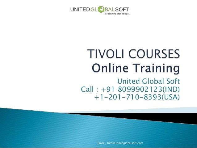 Tivoli online training in India