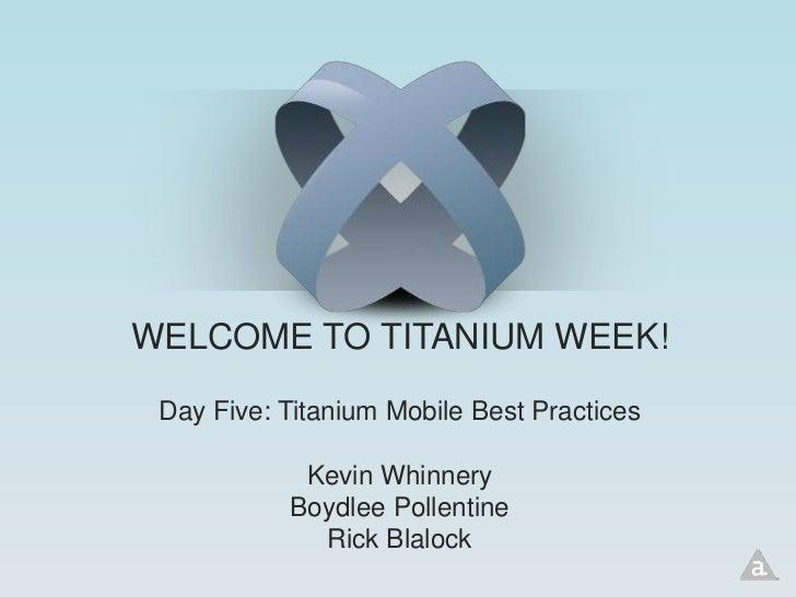 Best Practices in Mobile Development