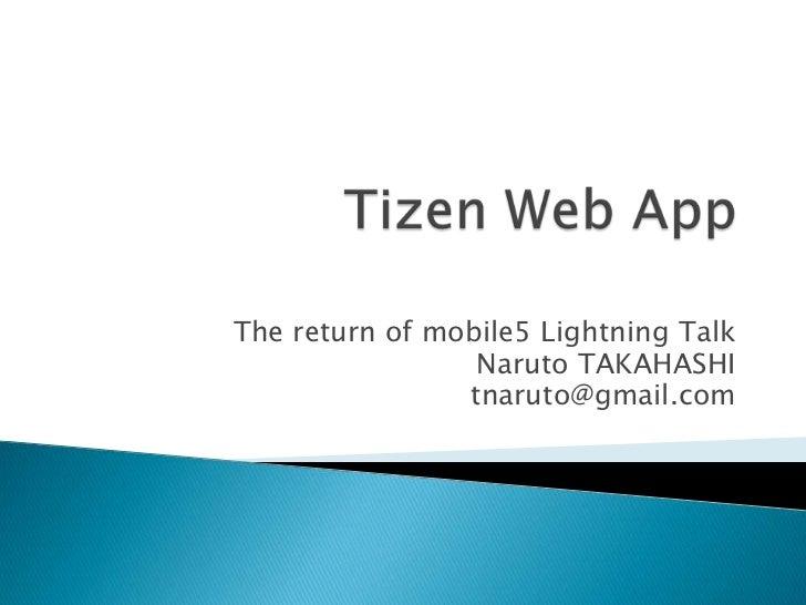 Tizen web app