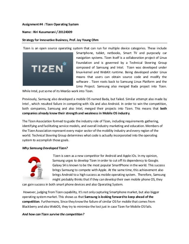 Analysis on Tizen Operating System