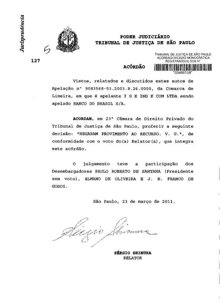 PODER JUDICIÁRIO                 TRIBUNAL DE JUSTIÇA DE SÃO PAULO                                               TRIBUNAL D...