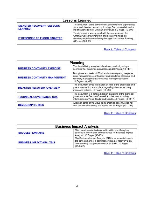 Disaster recovery and business continuity plan template disaster disaster recovery and business continuity plan template flashek Image collections