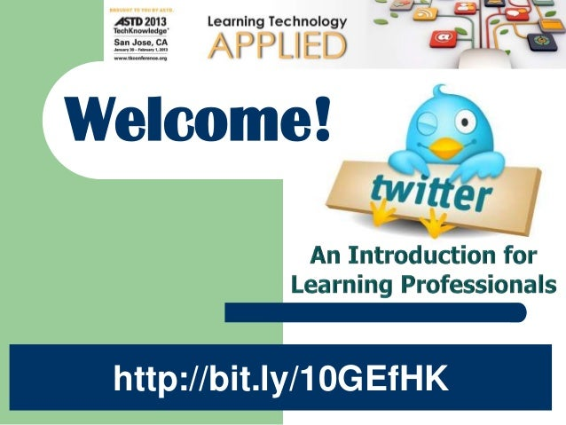 "Welcome to ASTD Long Island""s 1st Webinar!Welcome! http://bit.ly/10GEfHK"