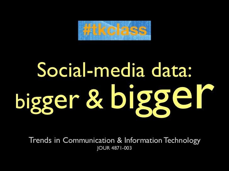 Social-media data:bigger &                bigger Trends in Communication & Information Technology                    JOUR ...