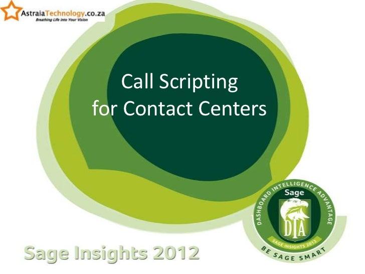 Call Scriptingfor Contact Centers