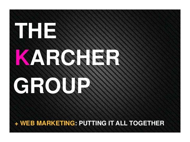 THEKARCHERGROUP+ WEB MARKETING: PUTTING IT ALL TOGETHER
