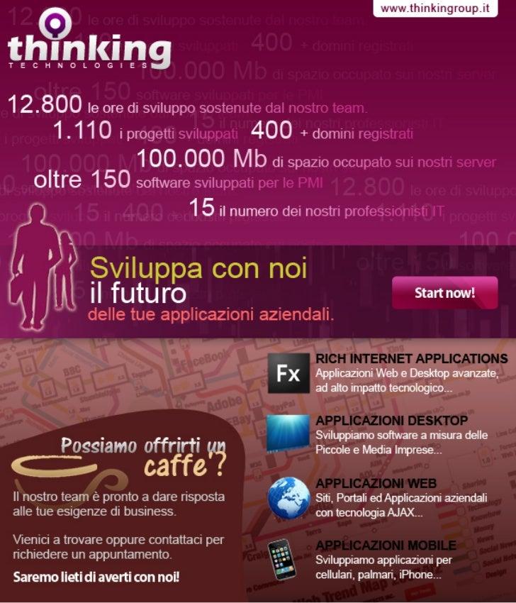 Sviluppa con noi il futuro delle tue applicazioni aziendali!