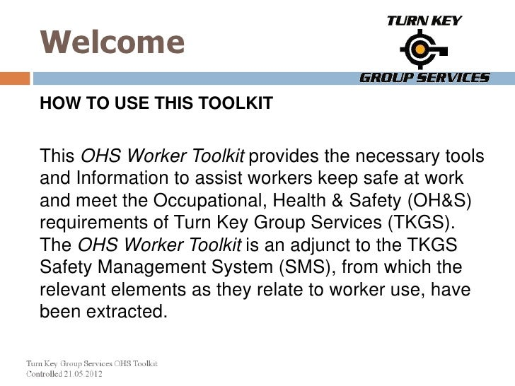 Turn Key Group Services - OHS Toolkit
