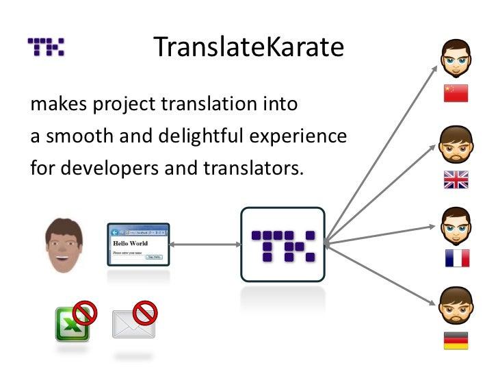 TranslateKaratemakes project translation intoa smooth and delightful experiencefor developers and translators.