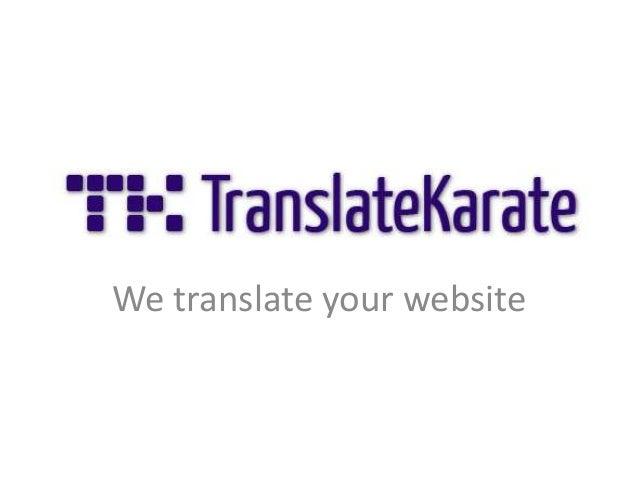 We translate your website