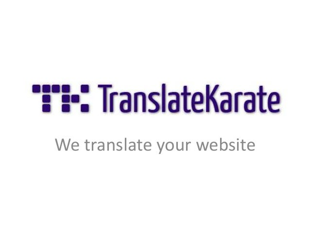 TranslateKarate - Presentation at Internet je sexy conference