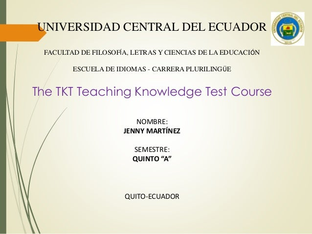 The TKT Teaching Knowledge Test Course