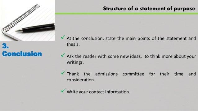 Statement of purpose conclusion