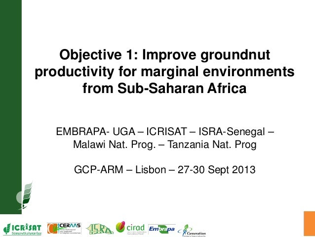 GRM 2013: Improve groundnut productivity for marginal environments from Sub-Saharan Africa -- V Vadez