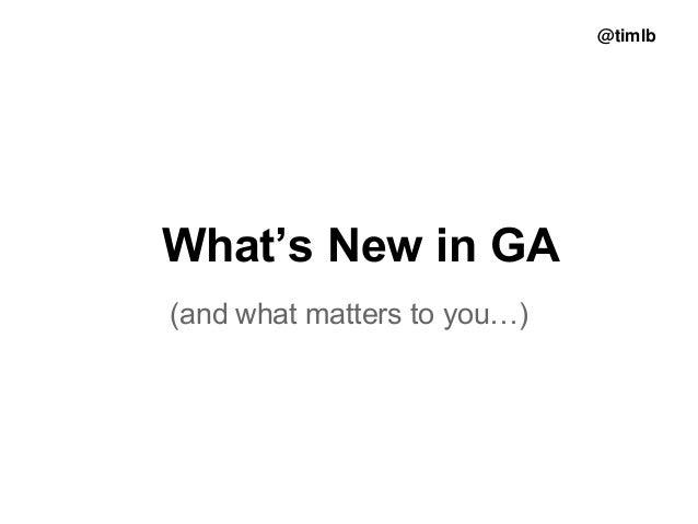Analytics: latest developments & guidance
