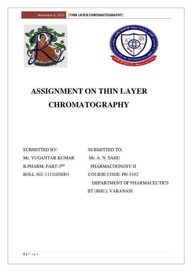 TLC.....THIN LAYER CHROMATOGRAPHY..D.D.