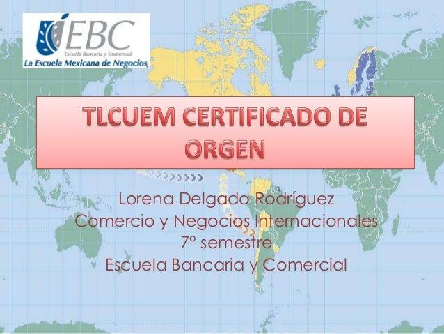Lorena Delgado Rodríguez Comercio y Negocios Internacionales 7° semestre Escuela Bancaria y Comercial