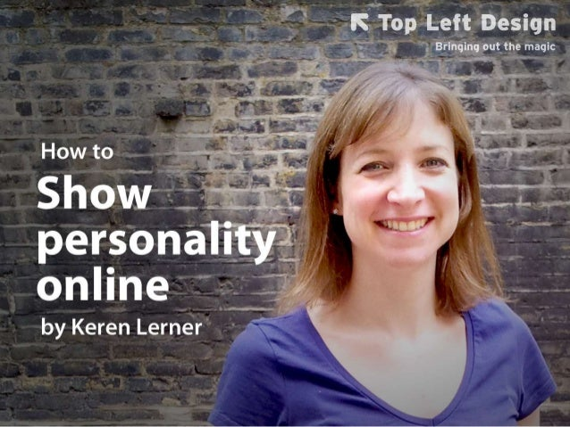How to add personality to your website and online profiles