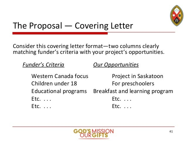 40 41 The Proposal Covering Letter Consider This Formattwo Columns