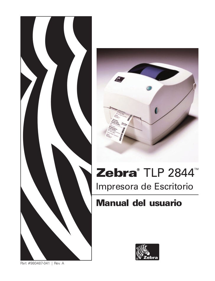 TM                              Zebra TLP 2844                                      ®                                 Impr...