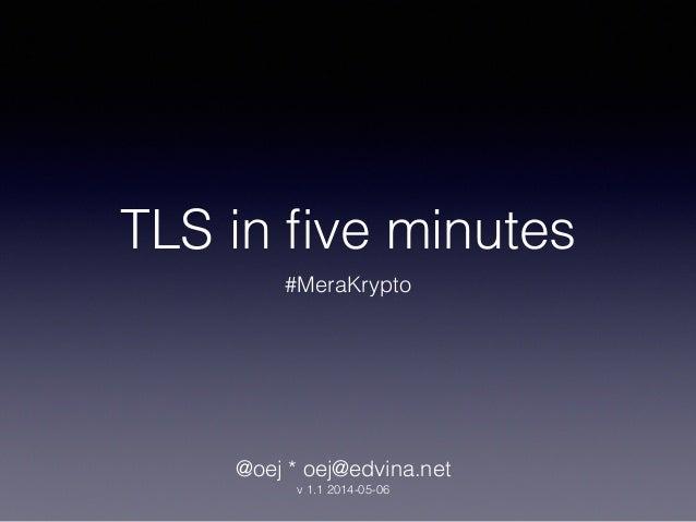 #MoreCrypto : Introduction to TLS