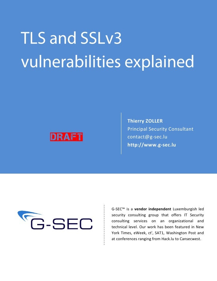 Thierry ZOLLER                 Principal Security Consultant Draft           contact@g-sec.lu                 http://www.g...