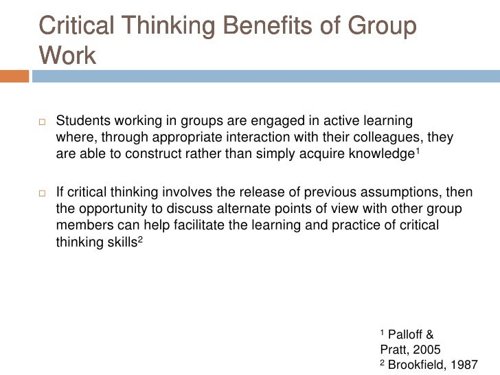 benefits of learning critical thinking skills