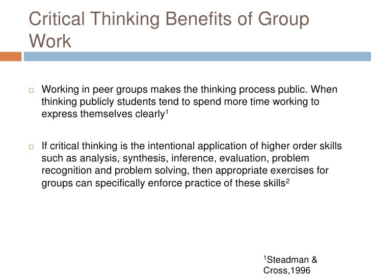 critical thinking exercises for groups Learn critical thinking skills with our free critical thinking exercises great for college students, nurses, and kids.