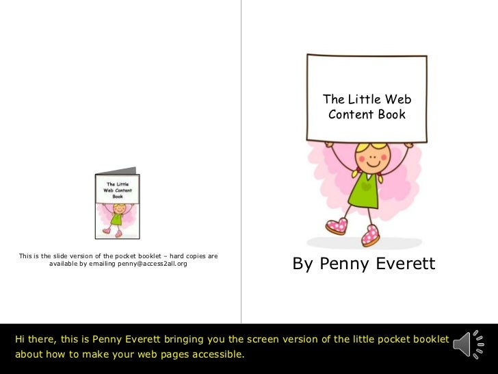 The Little Web                                                                        Content Book                        ...