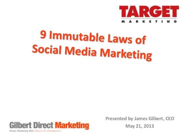 9 Immutable Laws of Social Media Marketing