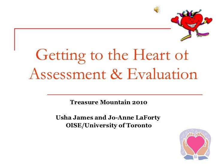 Tm heart of assessment evaluation