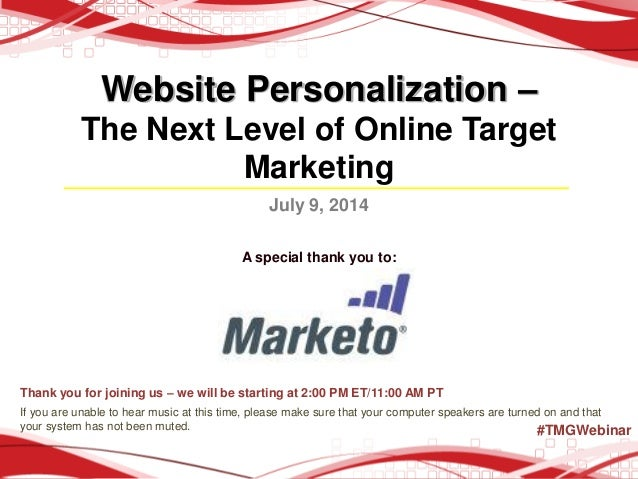 Website Personalization: The Next Level of Online Target Marketing