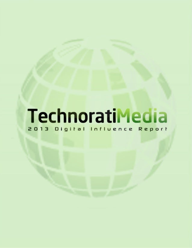 Technorati's 2013 Digital Influence Report