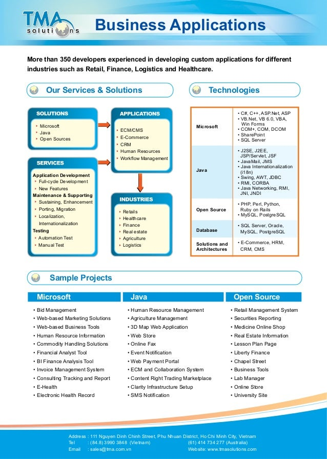 TMA brochure Business Apps