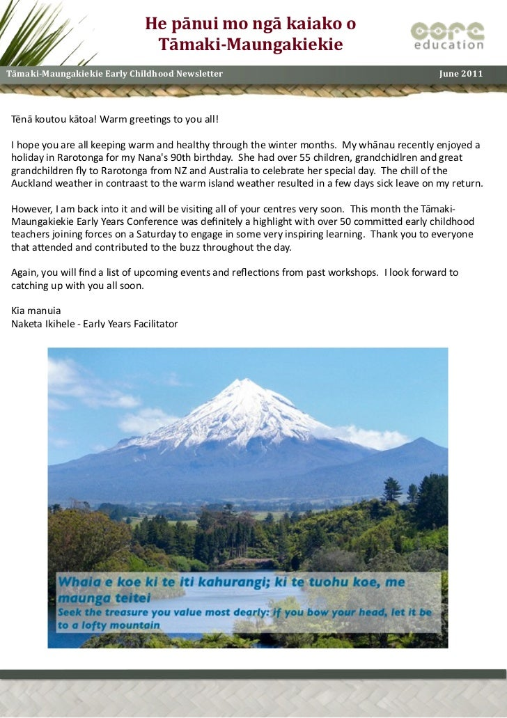 Tāmaki maungakiekie cluster_newsletter_june_11