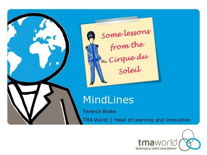 MindLinesTerence BrakeTMA World │ Head of Learning and Innovation