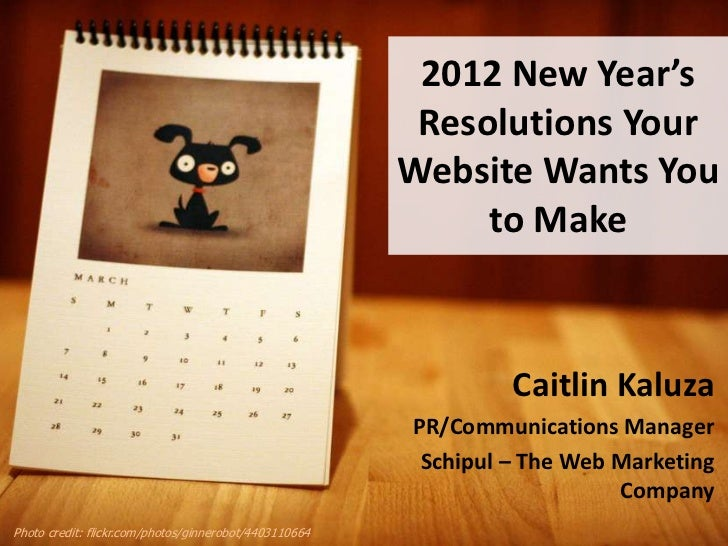 2012 Resolutions Your Website Wants You to Make