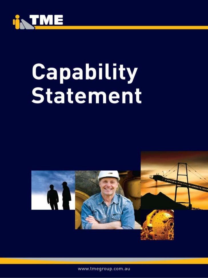 Tme Capability Statement