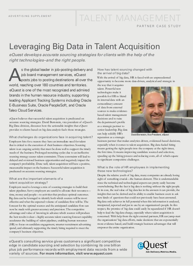 Leveraging Big Data in Talent Acquisition