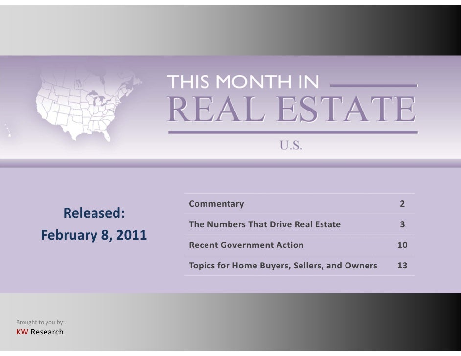 This Month in Real Estate Feb 2011