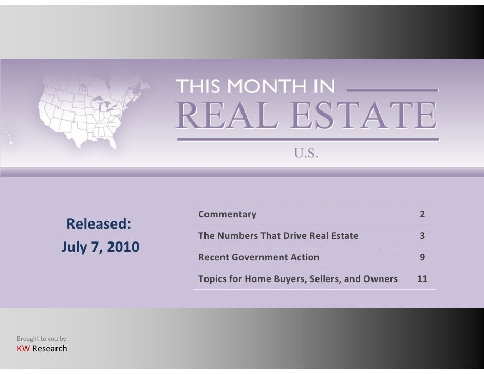 This Month in Real Estate July 2010