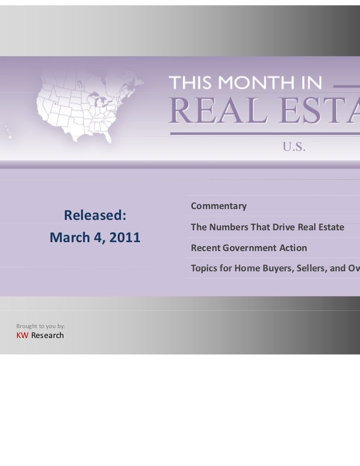 This Month in Real Estate March 2011
