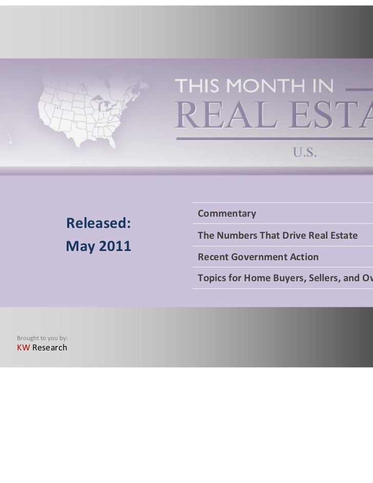 This Month in Real Estate - May 2011 May 2011