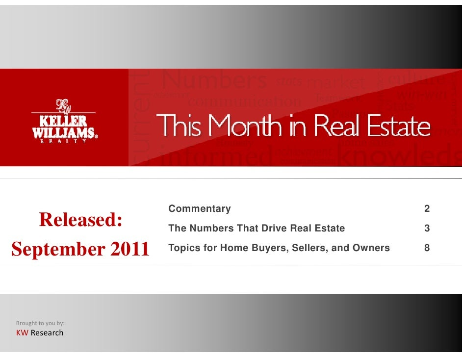 This Month in Real Estate - Sept  2011