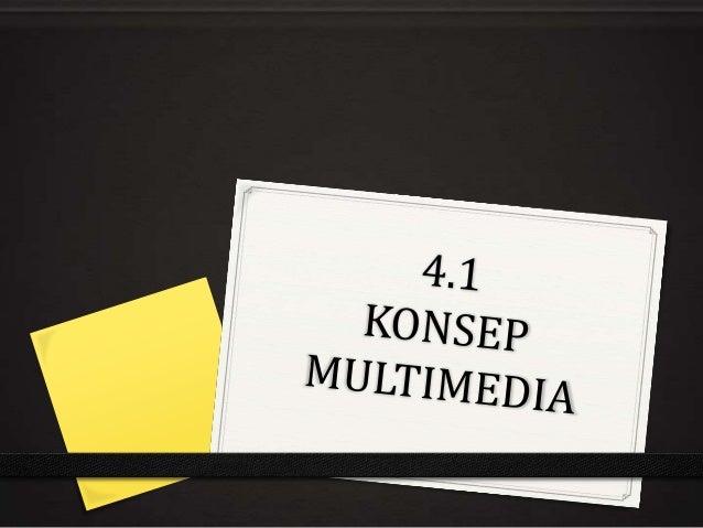 Definisi Multimedia0 MULTI + MEDIA0 Persembahan maklumat dengan gabungan media yangberbeza iaitu teks, audio, video, grafi...