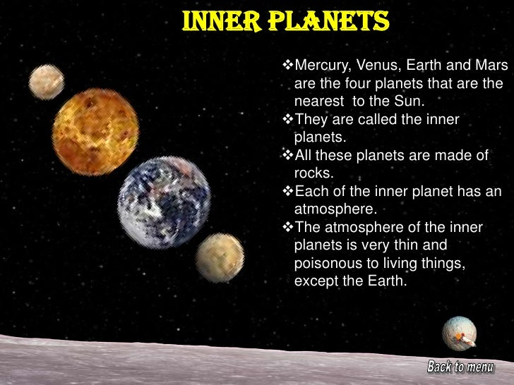 information about the inner planets -#main